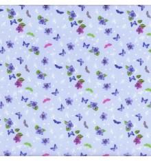 Papillon Bleu (Fleur) mini design fabric