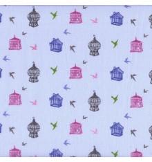 Papillon Bleu (Giselle) mini design fabric