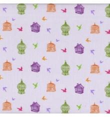 Papillon Mauve (Giselle) mini design fabric