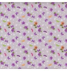 Papillon Mauve (Fleur) mini design fabric