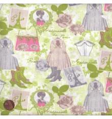 ELEGANCE - COUTURE (Anis) Mini Design Fabric