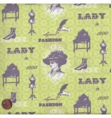 ELEGANCE - COSTUME (Anis) Mini Design Fabric