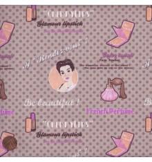 ELEGANCE - STARLET (Natural) Mini Design Fabric