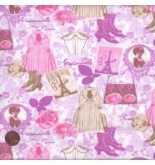ELEGANCE - COUTURE (Pink) Mini Design Fabric