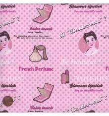 ELEGANCE - STARLET (Pink) Mini Design Fabric