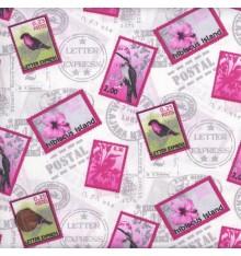 ELEGANCE - PAR AVION (Pink) Mini Design Fabric