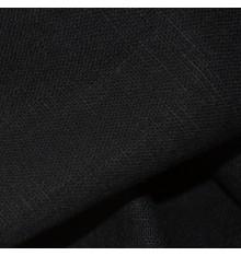 100% Linen Fabric  - Jet Black