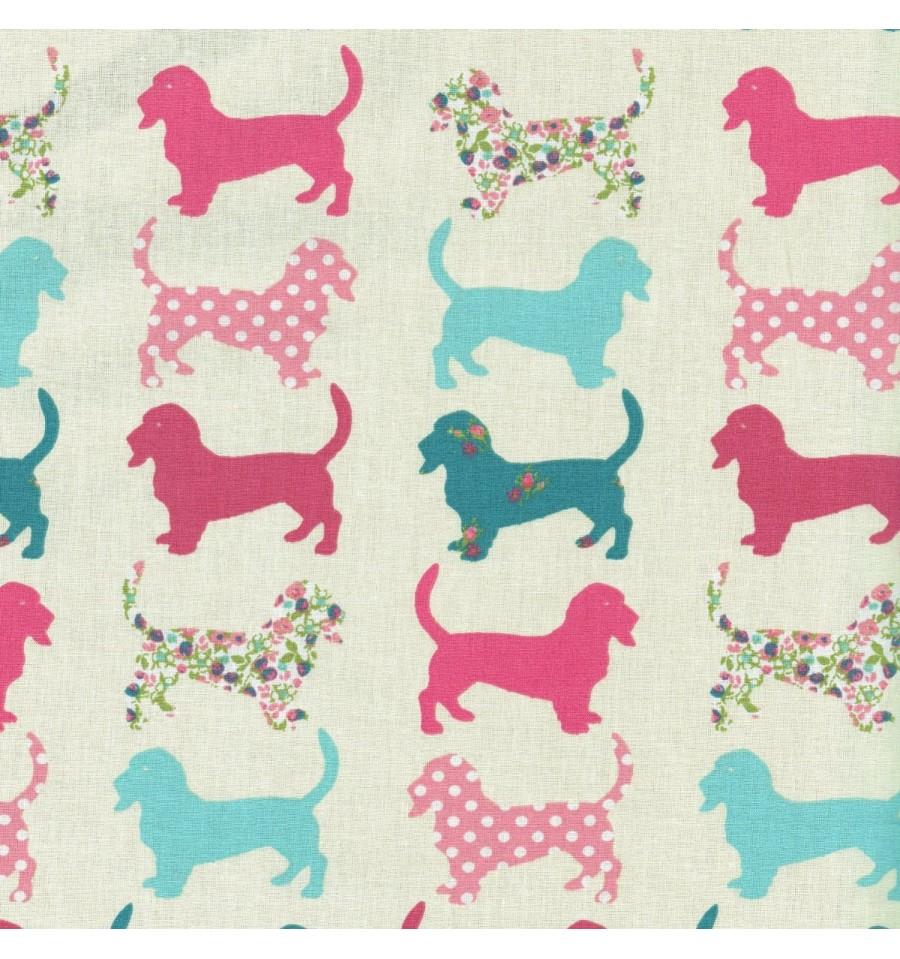 Dog Cotton Fabric Uk