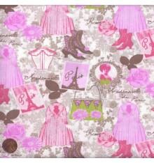 ELEGANCE - COUTURE (Natural) Mini Design Fabric