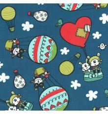 Phileas Fogg 80 Days Children's Fabric (Blue)