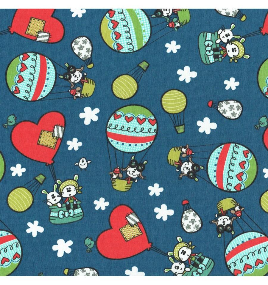 Phileas fogg 80 days children s fabric blue textiles for Children s material