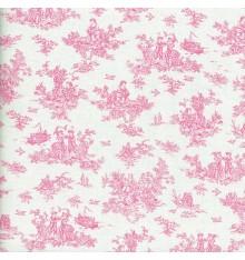 La Petite Toile de Jouy - French Rose / Fuchsia Pink
