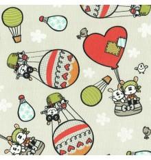 Phileas Fogg 80 Days Children's Fabric (Oyster Grey Beige)