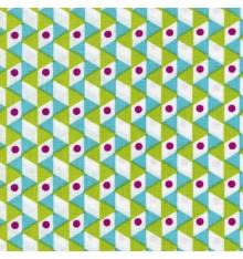 Geometrica fabric (Turquoise & Vert Anis)