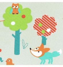 Wild Animal World children's fabric (Autumn edition)