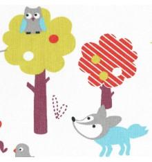 Wild Animal World children's fabric (Christmas edition)
