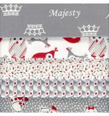 Textiles français Majesty Stoffpak Fabric Pack (Grey)