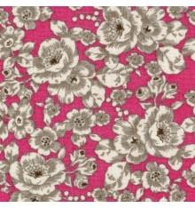 Rich Pink Floral Fabric (Seine)