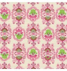 Pink Floral Emblems Fabric (Garonne)
