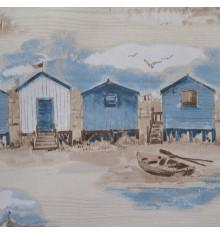 'Cabines de Plage' Beach Huts Fabric