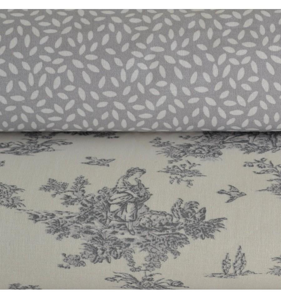 la petite toile de jouy confetti double combo fabric. Black Bedroom Furniture Sets. Home Design Ideas