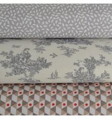 La Petite Toile de Jouy, Confetti & Geometrica Triple 'Combo' Fabric Pack