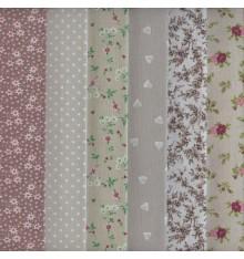 Textiles français Stoffpak - 6-piece Fabric Pack Bundle - 35 cm x 50 cm each