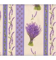 "Provençal ""Lavender Stripe"" Cotton Print (Lavender)"