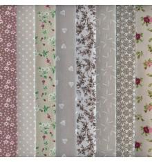 Textiles français Stoffpak - 8-piece Fabric Pack Bundle - 35 cm x 50 cm each