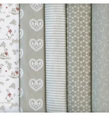 Stoffpak Rustic Charm - 5-piece Fabric Pack Bundle - 35 cm x 50 cm each
