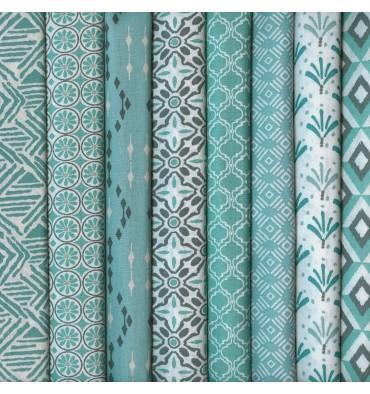 https://www.textilesfrancais.co.uk/492-1859-thickbox_default/textiles-francais-set-of-8-fat-quarters-modern-tribal-collection-celadon-jade.jpg