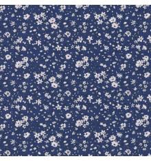 La fleur de la liberté fabric - marine blue