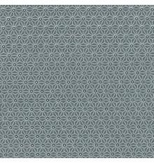 Asanoha Japanese geometric fabric - Anthracite