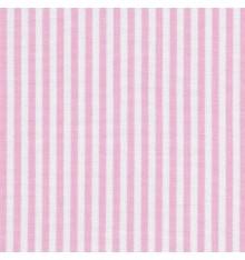 Woven Marine stripe fabric (rose pink & white)