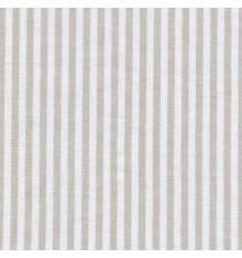 Woven Marine stripe fabric (beige ficelle & white)