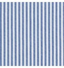 Woven Marine stripe fabric (marine blue & white)