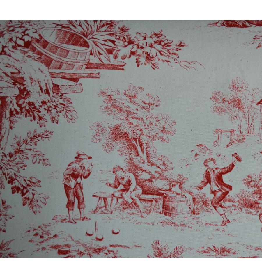 Toile de jouy fabric red 100 cotton print textiles - Chambre toile de jouy ...