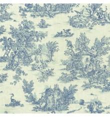 Mini Toile de Jouy Fabric (La Vie Rustique) - Oxford Blue