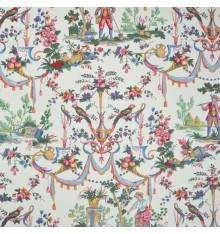 Double Width Luxury Toile de Jouy Fabric (La vie à la campagne)