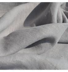 100% Linen Fabric  - Cinder Grey
