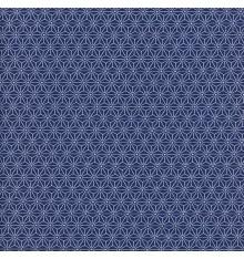 Asanoha Japanese geometric fabric - Blue