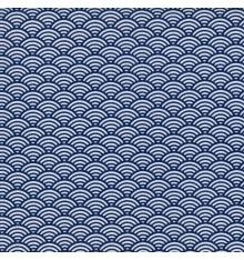 Japanese Scales fabric - Marine Blue