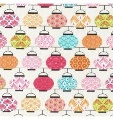 Japanese Lanterns fabric - Multicolour