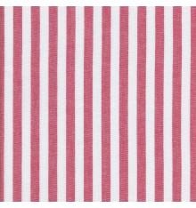 Woven Marine stripe (1 cm) fabric (red & white)