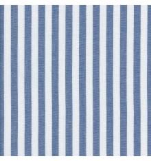 Woven Marine stripe (1 cm) fabric (marine blue & white)
