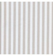 Woven Marine stripe (1 cm) fabric (beige ficelle & white)