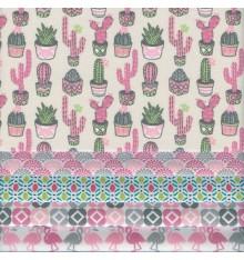 Stoffpak Latin America Collection (Pink & Grey)