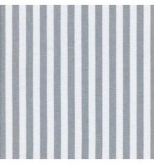 Woven Marine stripe (1 cm) fabric (grey & white)
