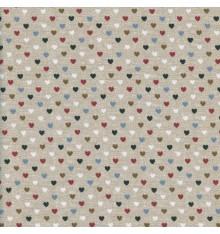 Linen-look Mini Hearts fabric (Les Petits Coeurs)