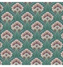 ART NOUVEAU FLORAL fabric - emerald green